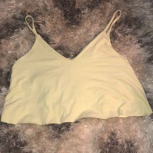 FOREVER 21 Light Yellow Crop Top